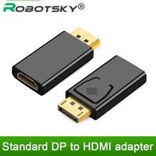 Displayport para hdmi adaptador conversor de exibição porta macho dp para hdmi fêmea hdtv cabo adaptador de áudio de vídeo para o projetor de tv de computador