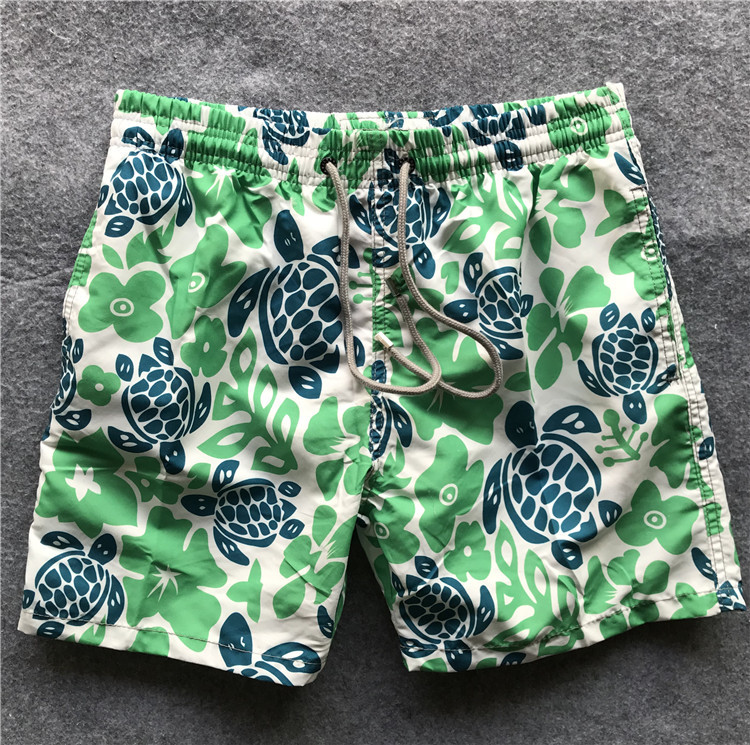 Origional Turtles Vilebrequin Beach Shorts Men's Sports Quick-Dry Shorts Men's Turtle Boardshort Four Swimming Trunks