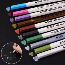 DIY Cute Water Chalk Pen Watercolor Gel Pen For Black Board Marker Pen For Wedding Photo Album Scrapbooking 1408(China)