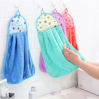 Thick Microfiber Hand Towel Bathroom Hanging Cloth Towel Soft Absorbent Fashion Housewife Gift Kitchen Hand Towel Comfortable image