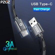 PZOZ Usb type-C кабель для быстрой зарядки type-C кабель для передачи данных зарядное устройство для samsung S9 S10 красный mi note7 Xiao mi 9 mi a2 mi x pad4 usb-c