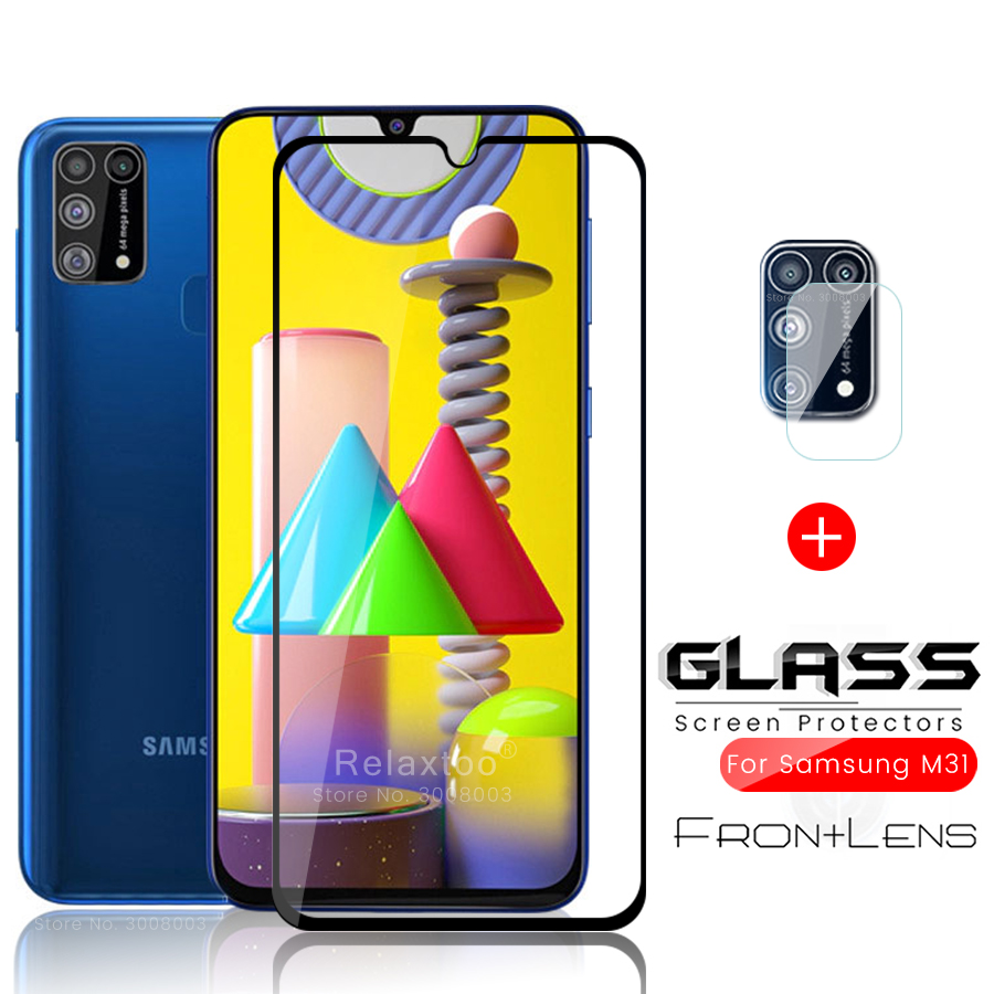 2in1 Sumsung M 30 S 31 Glass Protective Camera Glass For Samsung Galaxy M31 M30s M30 Sm-m315f Sm-m307f Sm-m305f 6.4'' Safe Films