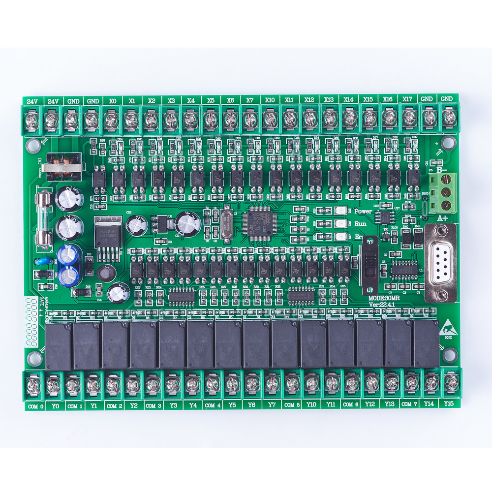 Plc Programmable Logic Controller Single Board Plc FX2N 30MR Online Moniter Plc,STM32 MCU 16 Input 14 Output
