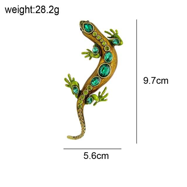 CINDY XIANG-broches de cristal de lagarto para mujer y hombre, alfileres de animales brillantes, broche de diamantes de imitación, accesorios de joyería para niños 2