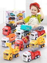 Ant 1:100 Toy Car Miniature Models Construction vehicle child excavator fire car set Birthday Gifts Kid Truck