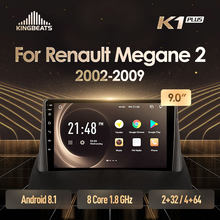 Kingbeats Android 8.1 Octa-Core Head Unit 4G In Dash Auto Radio Multimedia Video Player Navigatie Gps Voor renault Megane 2 2002-2009 Geen Dvd 2 Din Dubbel Din Android Car Stereo 2din DDR4 2 + 32 g/4 + 64G(China)