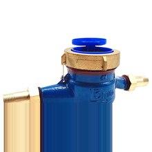 15 мм вращающееся крыло Счетчик инструменты сад водонепроницаемый легко установить цифровой дисплей измерения потока дома холодной воды метр однонаправленный