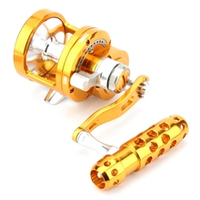цена на Full Metal Saltwater Jigging Reel Left/Right Hand 7+1BB Super Power 30Kg Big Game Sea Drum Casting Trolling Reels-SY70 Single Sp