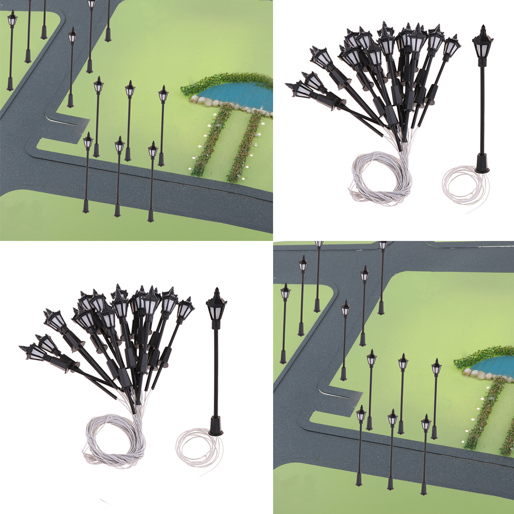40pcs  LED Street Lights Street Lamp Accessories Model Train  Miniature  HO OO Scale LEDs For Miniatures Landscape Decor