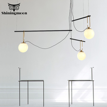 Nordic Led Pendant Lights Modern Creative Glass Ball Living Room Bedroom Pendant Lamp Restaurant Office Hanging Lights Luminaria