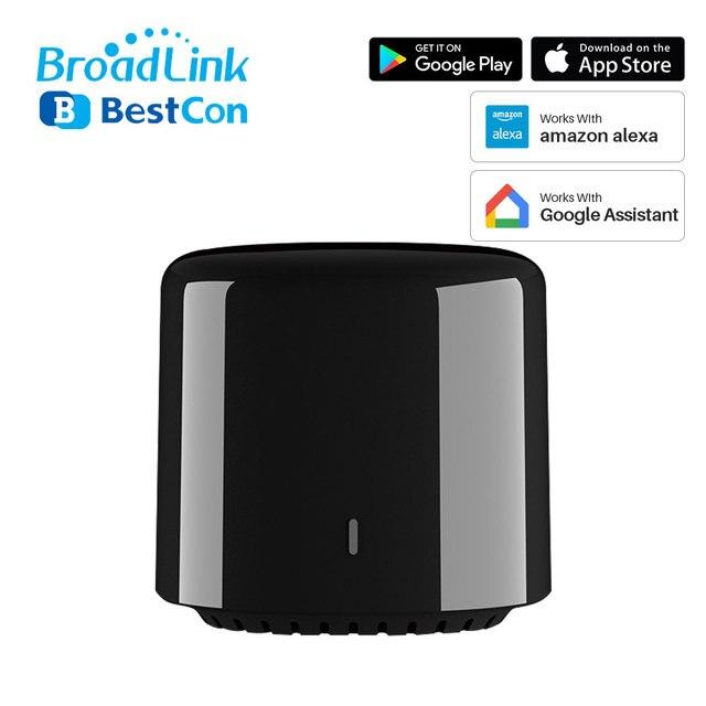 Broadlink mando a distancia Bestcon RM4C Mini, Universal, IR, 4G, WiFi, IR, funciona con asistente de Google, Alexa, automatización inteligente del hogar