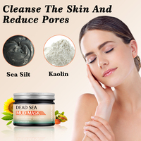 LAGUNAMOON Facial Deep Cleaning Natural Dead Sea Mud Mask Exfoliating Black Masks Skin Face Care 250g 4