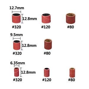 Набор шлифовальных барабанов XCAN 338 шт. #60 #120 #320 шлифовальная лента с 3/8 1/4 1/2 резиновой оправки для электрической мельницы Dremel вращающиеся инструменты