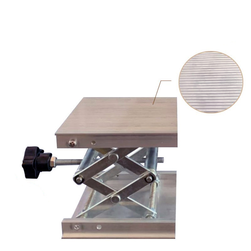 Image 4 - 100x100mm Stainless Steel Adjustable Drill Lift Laboratory Lifting Platform Router Lift Table Woodworking Lab Lifting Stand RackHand Tool Sets   -