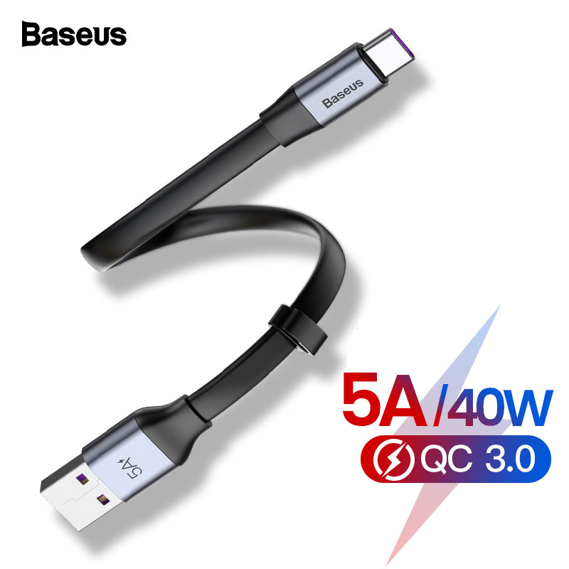 Baseus USB C Cable 5A USB Type C Cable For Huawei P30 P20 Mate 30 20 P10 Pro Lite Fast Charging Charger For Xiaomi Type c Cable-in Mobile Phone Cables from Cellphones & Telecommunications on AliExpress