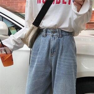 Image 5 - ג ינס נשים גבוהה מותן Loose ישר פנאי קרסול אורך כל התאמה נשים ז אן קוריאני סגנון פשוט תלמיד טרנדי יומי שיק