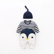 YiErYing Newborn Rompers Suits Autumn Winter Cute Long Sleeves 2Pcs Hat+Rompers For Baby Girl Boy Jumpsuit Clothes Sets