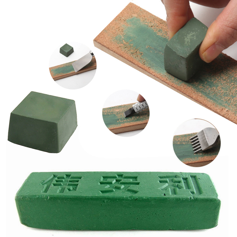 Urijk 1 Pcs Green Polishing Paste Buffing Compound Alumina Fine Abrasive Polishing Paste For DIY Handmade Metal Blade Grinding