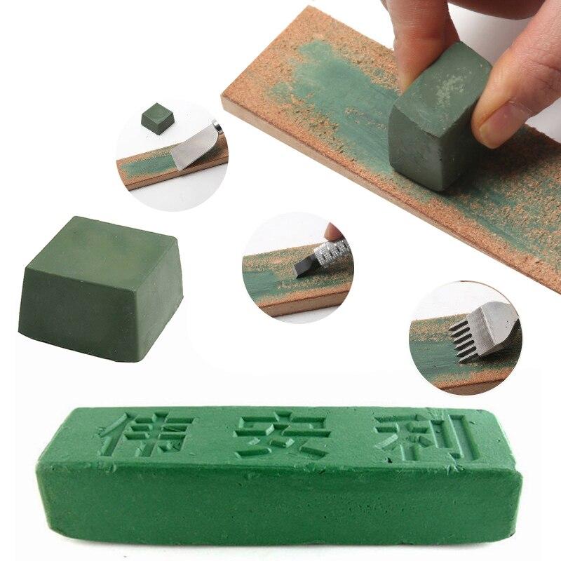 Urijk 1 Pcs Green Polishing Paste Buffing Compound Alumina Fine Abrasive Polishing Paste For DIY Handmade Metal Blade Grinding