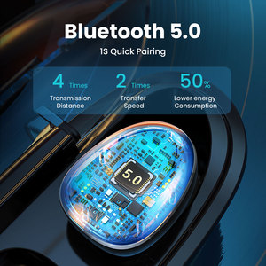 Image 3 - FIVI Bluetooth 5.0 Earphones Wireless Headphones Sport Waterproof Headsets Noise Cancelling Gaming Earbuds For iPhone Xiaomi