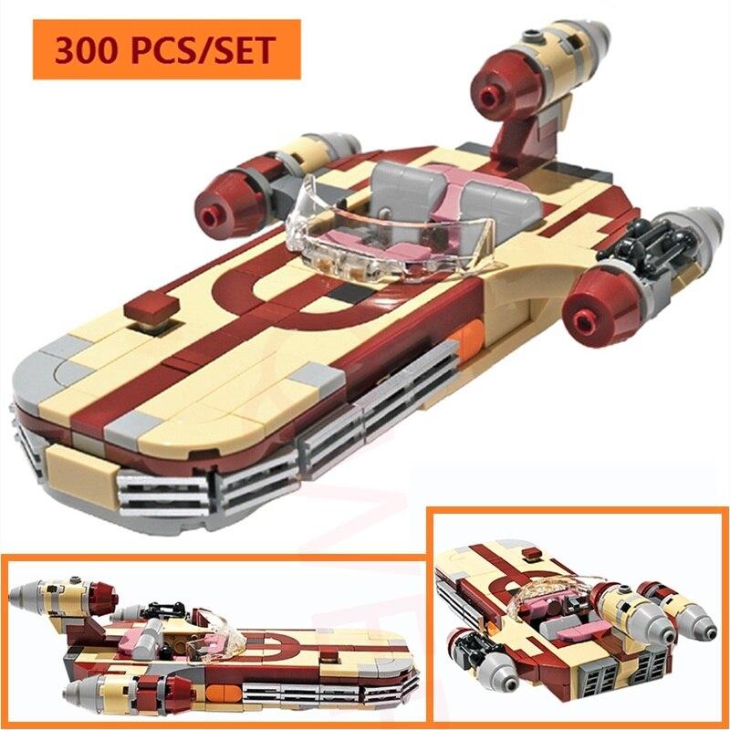 Star Luke's X-34 Space Series Wars Soro Suub Landspeeder Fighter MOC-41385 Technic Building Blocks Bricks A Airship Kids Toys