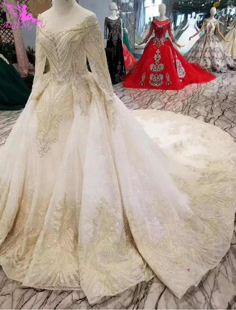 Aijingyu Pernikahan Kereta Gaun Muslim Terbaik Pengantin Yang