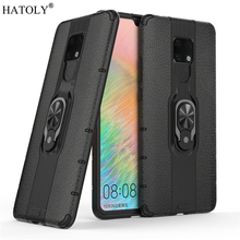 For Huawei Mate 20X Case Protective Finger Ring Silicone PC Armor Hard Phone