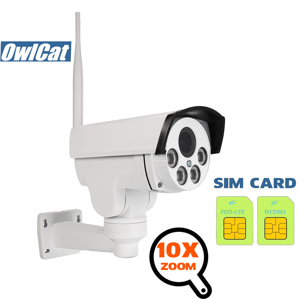 OwlCat HD Sony 2MP 5MP Outdoor Bullet IP <font><b>Camera</b></font> Wifi PTZ 5X 10X Zoom <font><b>3G</b></font> <font><b>4G</b></font> <font><b>SIM</b></font> <font><b>Card</b></font> <font><b>Camera</b></font> Wireless Hotspot MiFi Motion Audio image