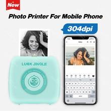 Mini-imprimante thermique Bluetooth pour photos de poche, 304 DPI, 58mm, sans fil, pour téléphone Android et iOS