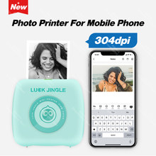 304 Dpi Nieuwe Pocket Photo Printer Mini Bluetooth Thermische Printer 58Mm Draadloze Sticker Label Mobiele Android Ios Telefoon Printer