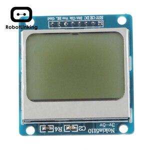 Módulo LCD azul de alta calidad 84x48 84x84, adaptador de contraluz PCB para Nokia 5110 para Arduino