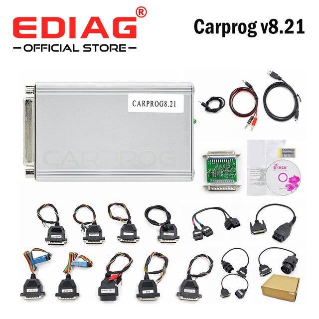 Carprog V8.21  V10.93 v10.05  Car Prog ECU Chip Tunning Car Repair Tool Carprog Programmer Carprog V8.21with All 21 Adapters