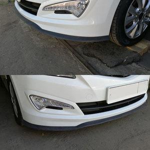 Image 3 - VODOOL parachoques delantero y trasero para coche, 2,5 M, Universal, divisor de labios, Protector de goma, Alerón, cenefa, Barbilla, pegatinas de tira de goma