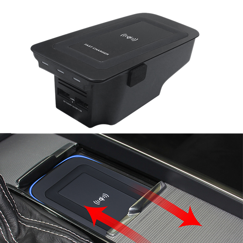 Car Wireless Charge QI Charging Phone Holder Mobile Adapter Mount Bracket for Volvo XC90 S60 XC60 V90CC X90