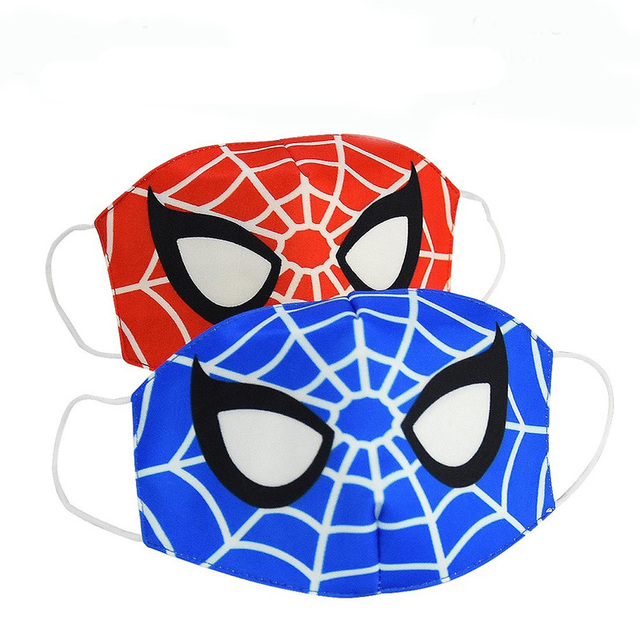 2020 Spiderman Stop Air Pollution Home Cartoon Lovely Cotton Masks Keep Warm Mouth Respirator Kids Adult