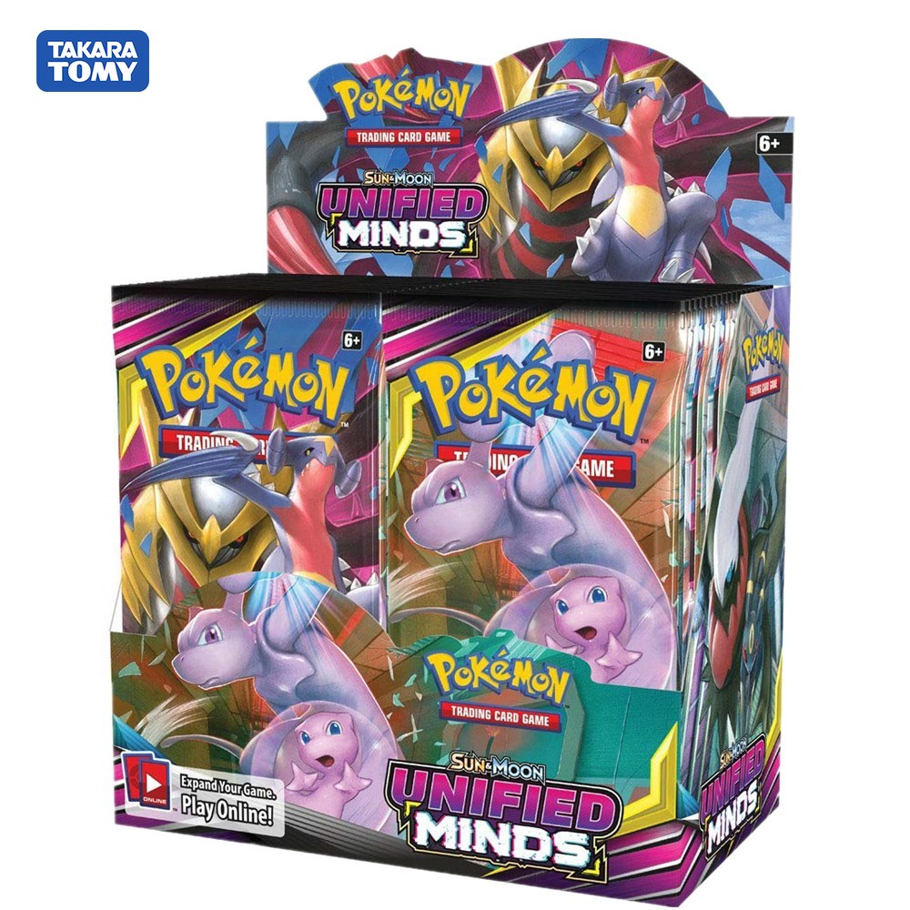 324Pcs/box Pokemon TCG: Sun & Moon Unified Minds Booster Box, Multi Collectible Trading Card Set