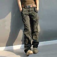 Женские свободные камуфляжные брюки-карго с несколькими карманами