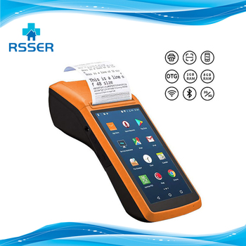 Android Wifi POS PDA Terminal 2D Barcode Scanner Reader Printer 58mm Thermal Receipt Bluetooth Rugged handheld