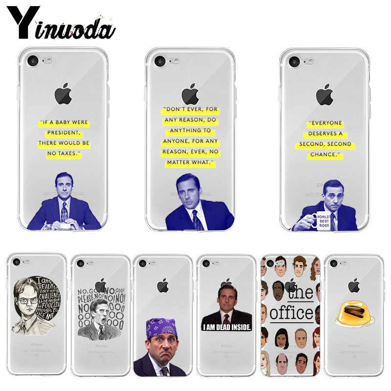 Yinuoda Michael Scott Office Funny Humor 5 โทรศัพท์กรณีสำหรับ iPhone X XS MAX 6 6s 7 7plus 8 8Plus 5 5S SE XR 11 pro max