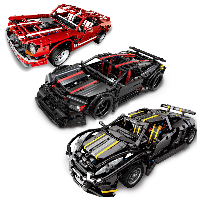 Racing Car Speed ChampionS Compatible Technic Car Racer Voiture MOC Supercar Sets Old Models Building Kits