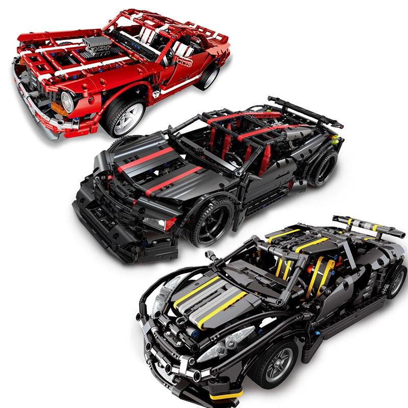 Samochód wyścigowy prędkości mistrzów kompatybilny Technic Car Racer Voiture MOC Supercar zestawy stare modele zestawy budowlane bloki zabawki w Klocki od Zabawki i hobby na  Grupa 1