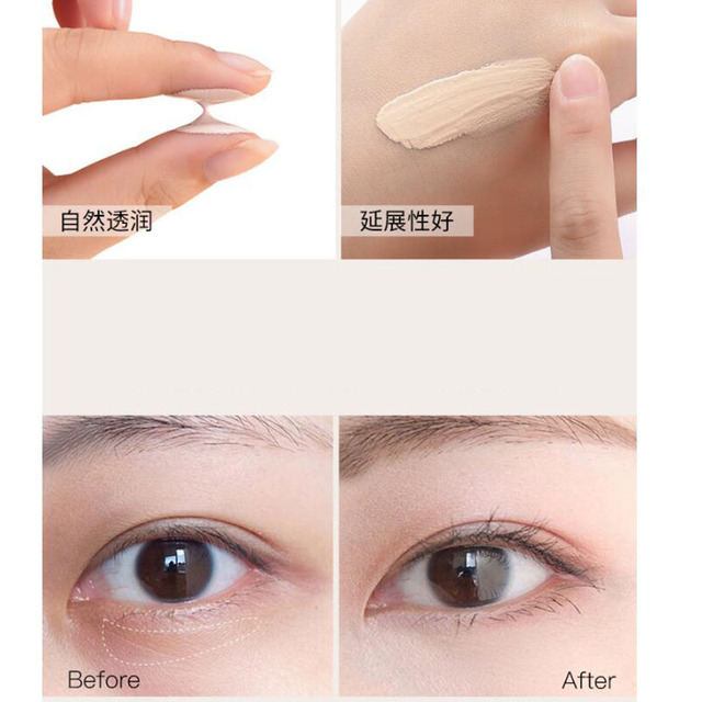 1Pcs Small Gold Tube Concealer Liquid Waterproof Spot Acne Print Concealer Black Eye Tattoo Scar Foundation Cream 4