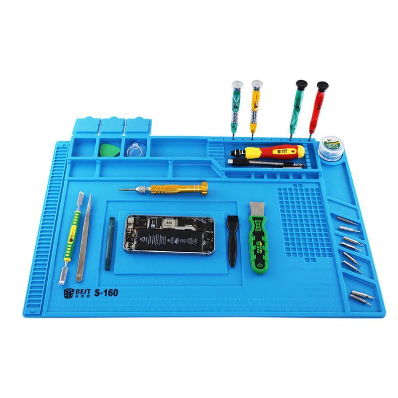Heat-resistant Heat Gun Silicone BGA Soldering Station Repair Insulation Pad Phone PC Repair Tool Supplies Accessory