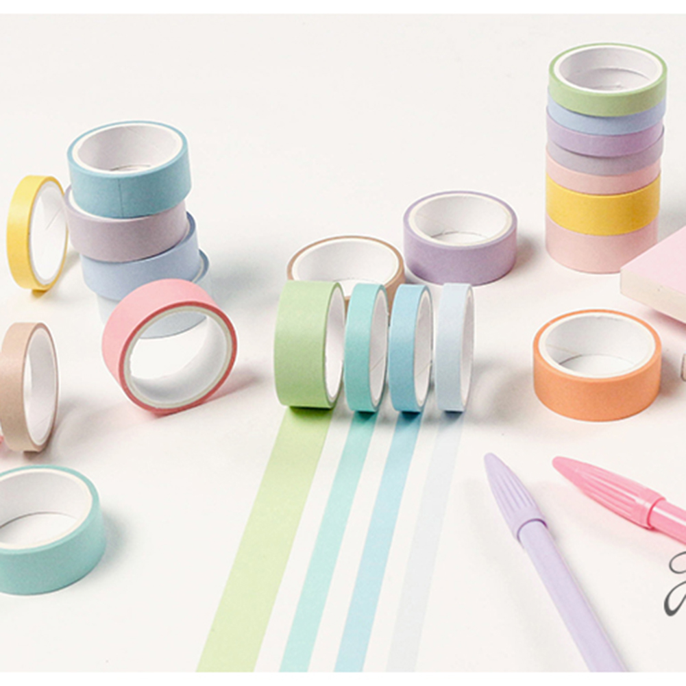 12 Rolls Paper Washi Tape Adhesive Tape DIY Scrapbooking Label Masking Tape Decoration Diary School Office Supplies Stationery