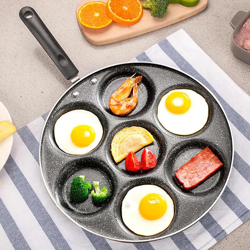 Cast Iron Egg Pancake Omelette Frying Pan Breakfast Griddle Fryer /& Handle