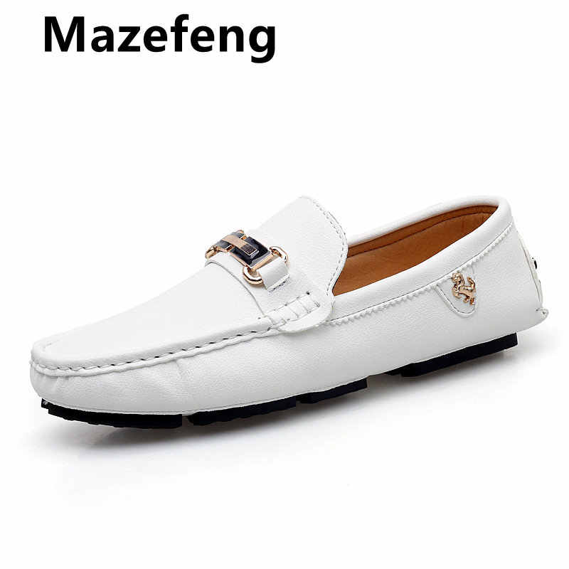 Men Loafers Luxury Summer Party Shoes Soft Moccasins Big Size Leather Shoes Men Flats Gommino Driving Shoes  Slip On Lazy Shoes