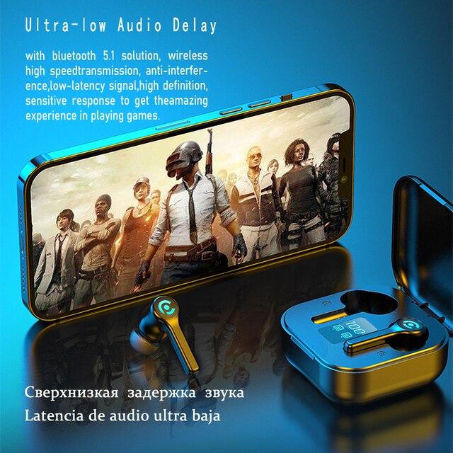 56 HOURS LONG Battery Wireless Bluetooth V5.1 Earphone Colorful Wireless Headphone HIFI Stereo Earbuds Call Earphone with Mic 2
