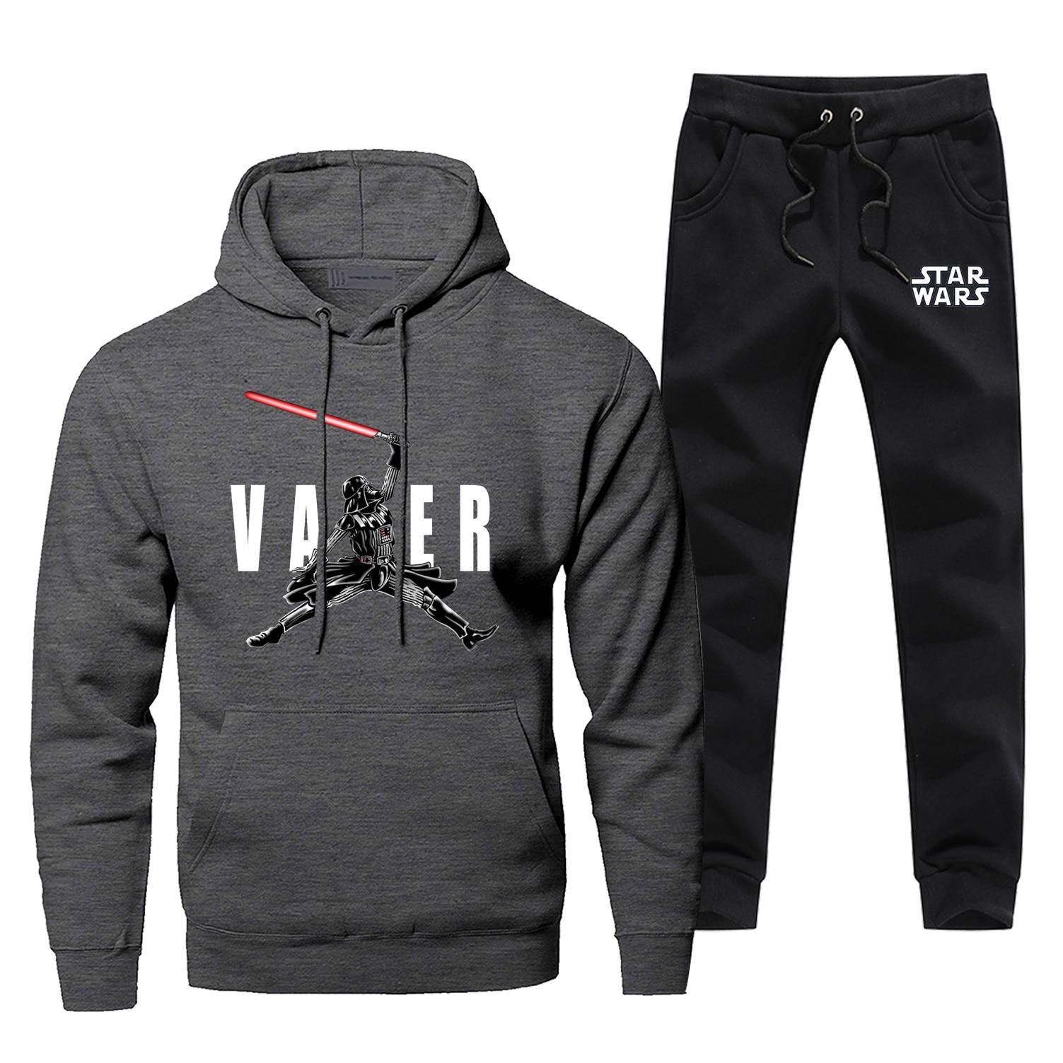 Star Wars Hoodies Pants Set Men Darth Vader Hoodie Sweatshirt Mens Hoodies Pollover 2 Piece Set Streetwear Starwars Sweatshirts