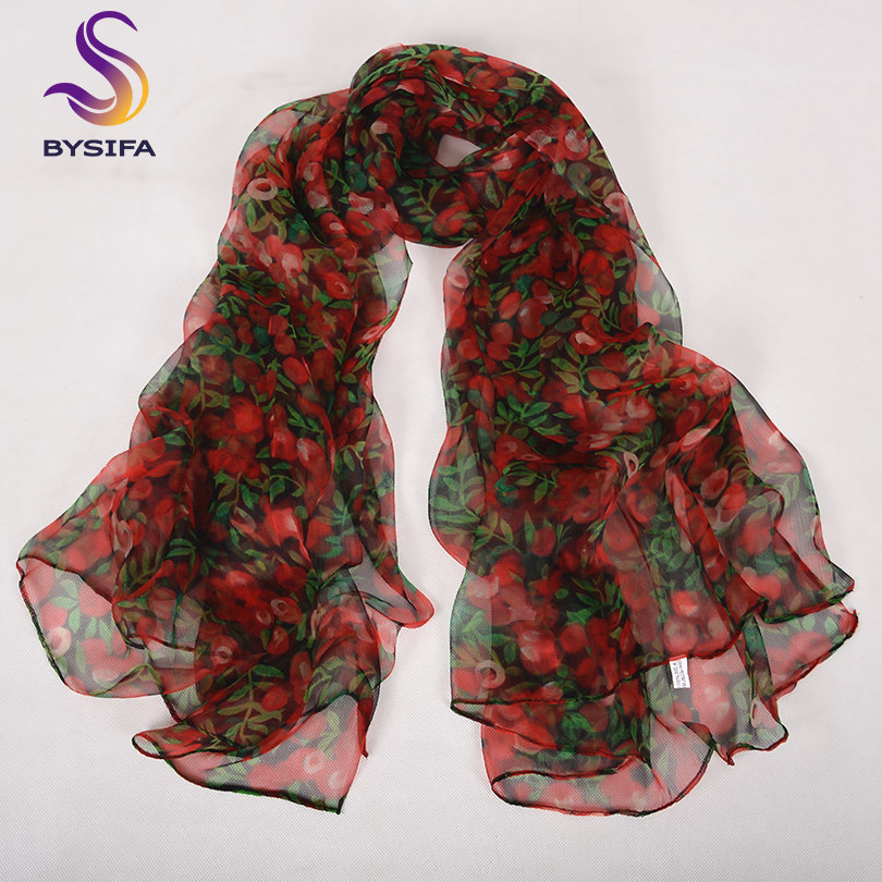 green red floral