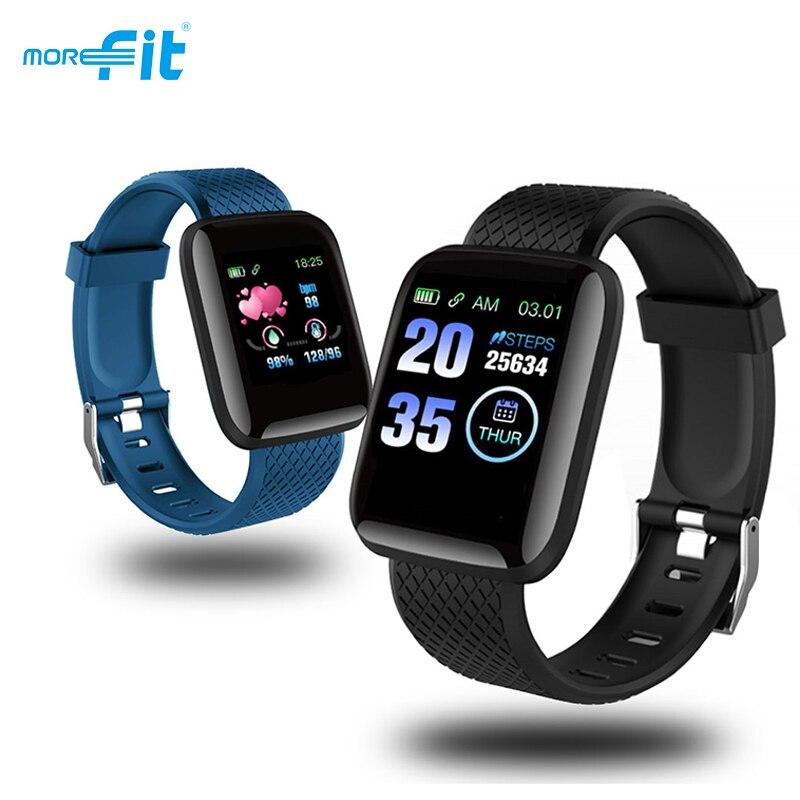 Morefit D13 Smart Watches 116 PLUS Men Women Waterproof Fitness Tracker Heart Rate Blood Pressure Smartwatch for Andriod iOS